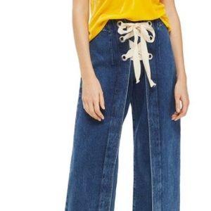 Topshop Moto Crop dark blue jeans